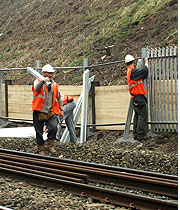 A major fencing project for Network Rail.